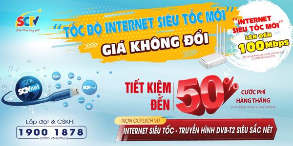 Tốc độ Internet siêu tốc mới, giá không đổi